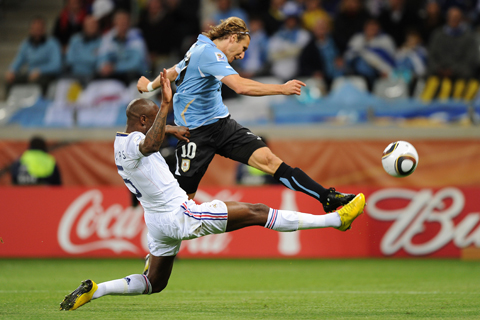 SP2010: Urugvaj - Francija, William Gallas, Diego Forlan