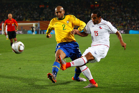 SP 2010 Brazilija Čile Maicon Jean Beausejour